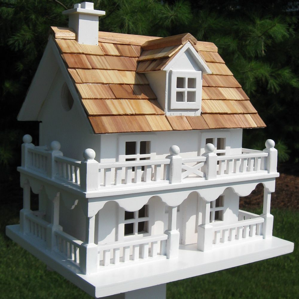 Outdoor Accents White Cottage Novelty Bird