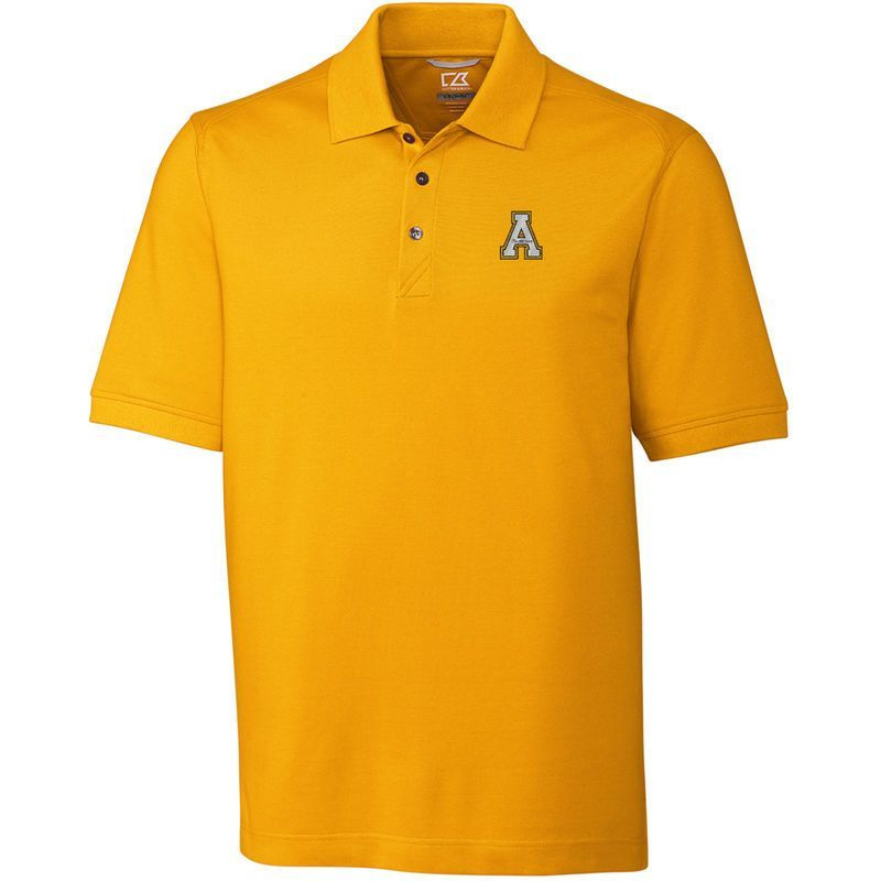 Appalachian State Mountaineers Cutter & Buck Collegiate Advantage DryTec Polo - Gold