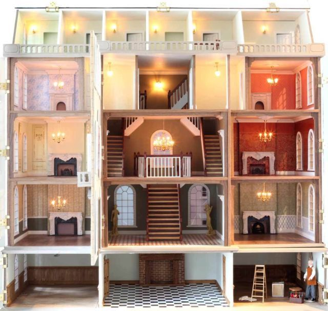 Downton Manor Dollshouse Including Basement Downton Abbey Only One On Ebay House Doll House Kit Homes