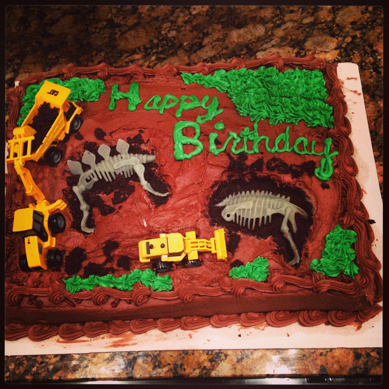 Dinosaur dig excavation cake Kid Stuff Pinterest