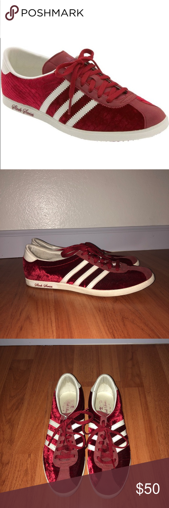 Red adidas, Shoes sneakers adidas, Sneakers