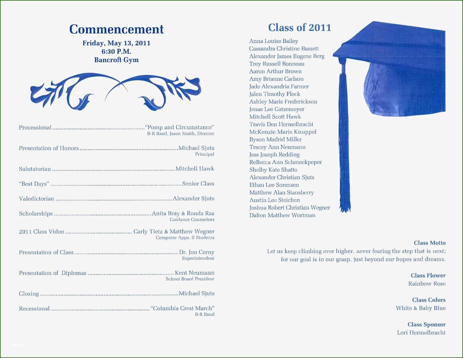 19 Excellent Graduation Ceremony Program Template In 2020 Ceremony Program Template Preschool Graduation Kindergarten Graduation Programs