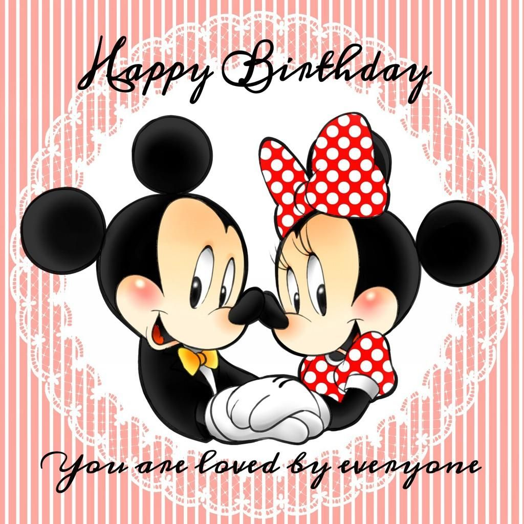 とんちゃん On Mickey Mouse Mice And Happy Birthday Mickey Mouse Wishing Happy Birthday