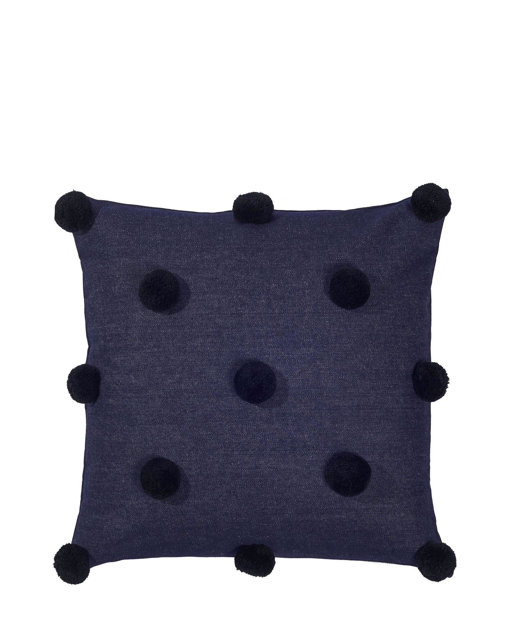 Black Pom Pom Pillow