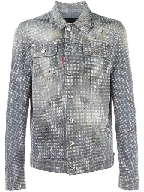 DSQUARED2 studded denim jacket. #dsquared2 #cloth #jacket