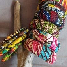 www.cewax.fr aime ces bracelets tissu africain wax style ethnique tendance  tribale chic