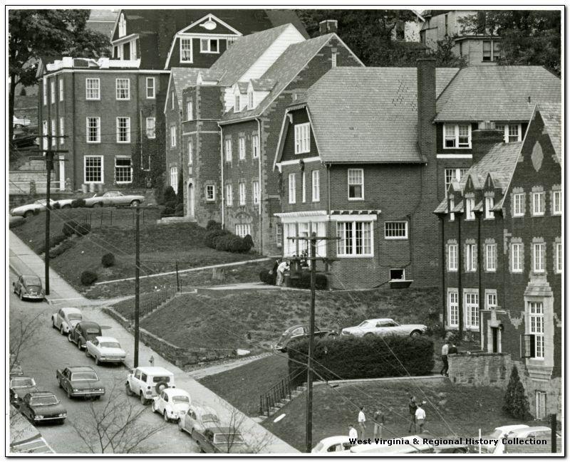 Fraternity Houses Behind The Mountainlair West Virginia History West Virginia Morgantown West Virginia