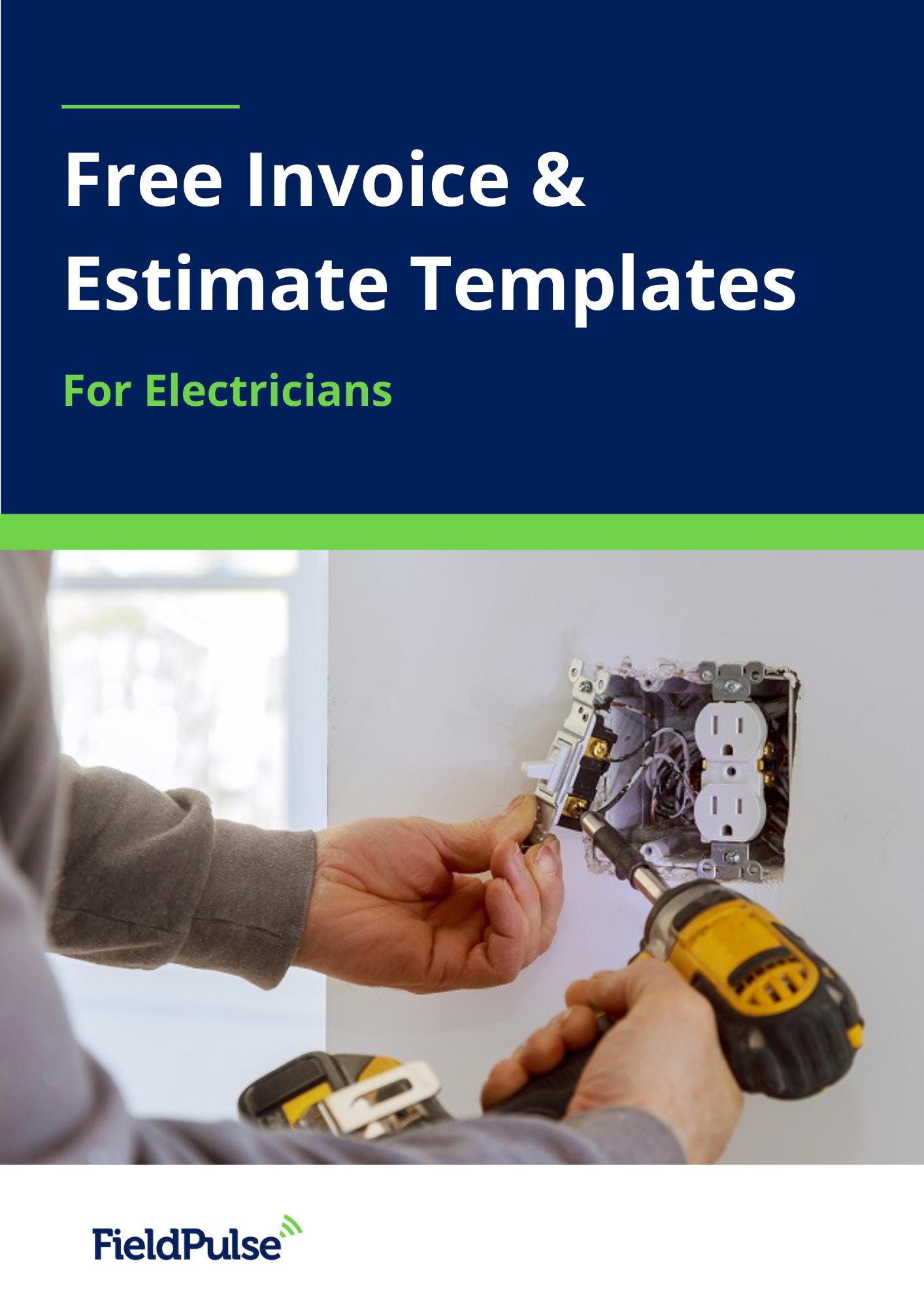 Free Invoice Estimate Templates For Electricians Estimate Template Electrician Marketing Resources