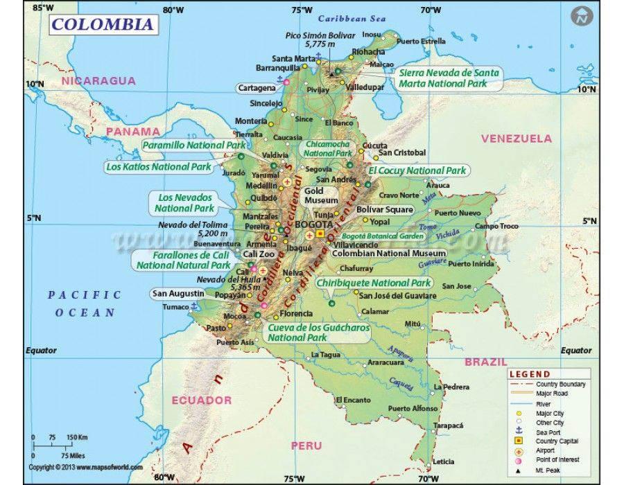 Buy Colombia Map Online Country Maps Pinterest Colombia map