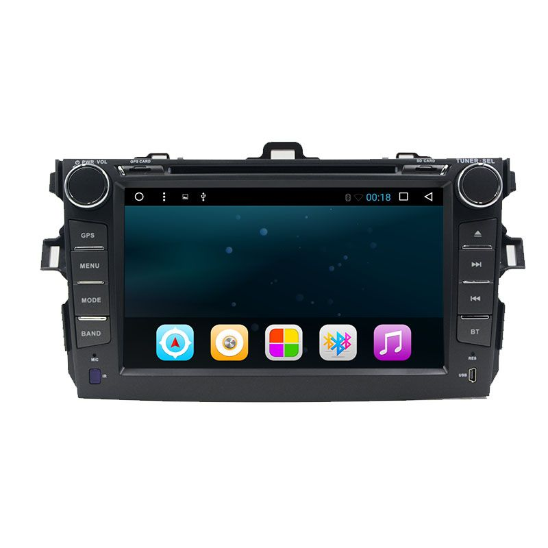8 Inch 2 Din Android 6 0 Car Dvd Player For Toyota Corolla 2007