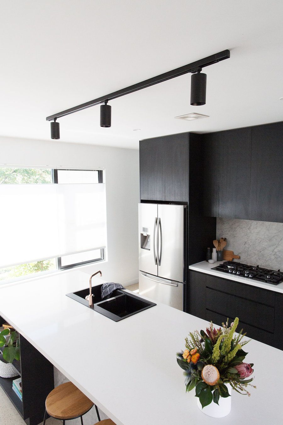 Gina S Home New Black Track Ceiling Mount Light In The Kitchen