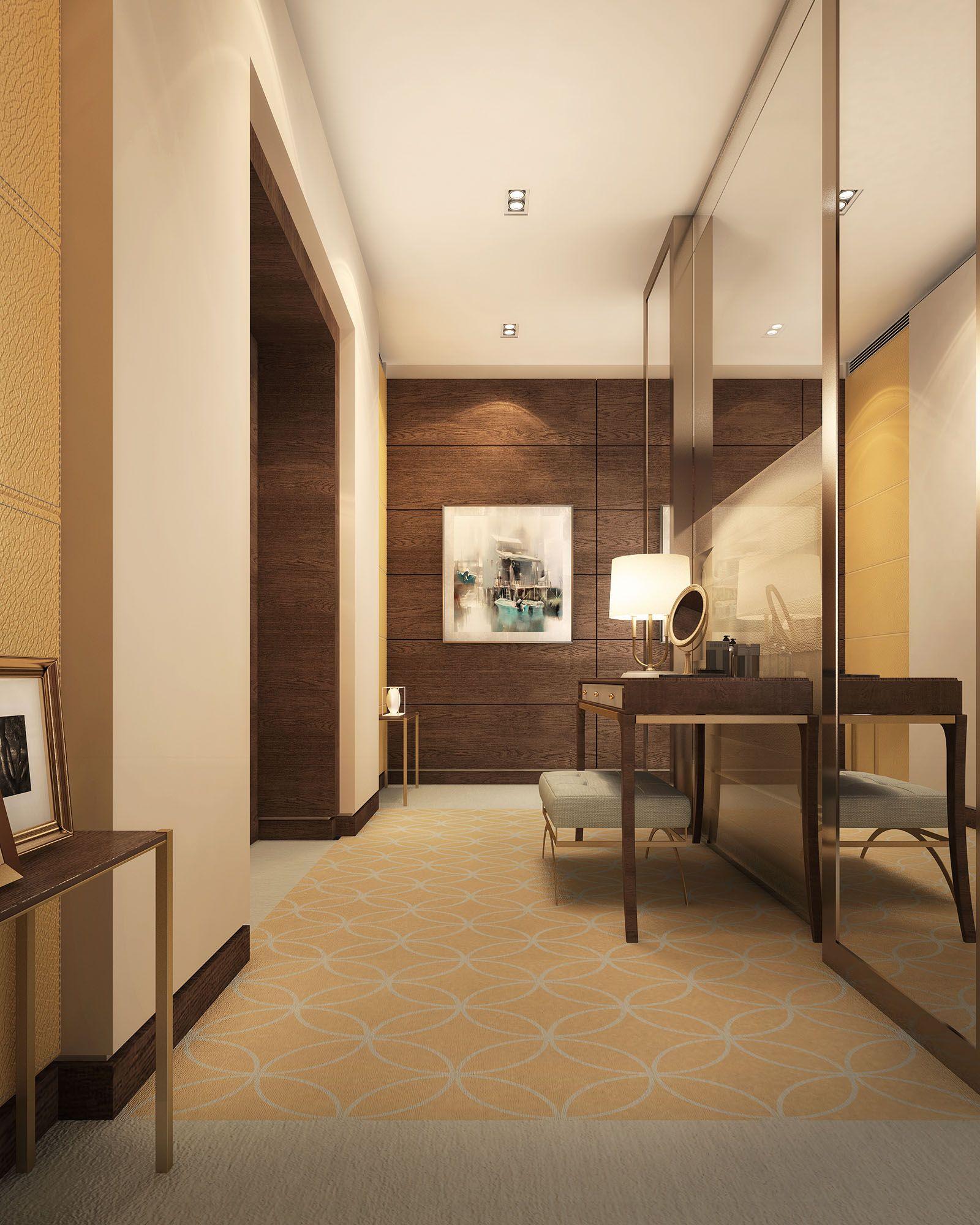 Luxury Foyer Interior Design: MODERN LUXURY WALK-IN CLOSET, HALL