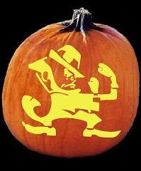 Spookmaster Leperchaun Fighting Irish Pumpkin Carving Pattern My