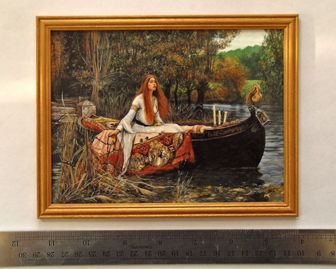 J w Waterhouse The Lady of Shalott 1888 Exact 1 12 scale of the
