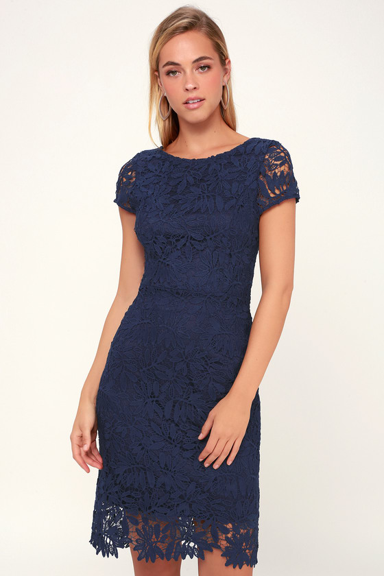 Right Sheer Right Now Navy Blue Lace Bodycon Dress Lace Blue Dress Blue Cocktail Dress Blue Lace Maxi Dress