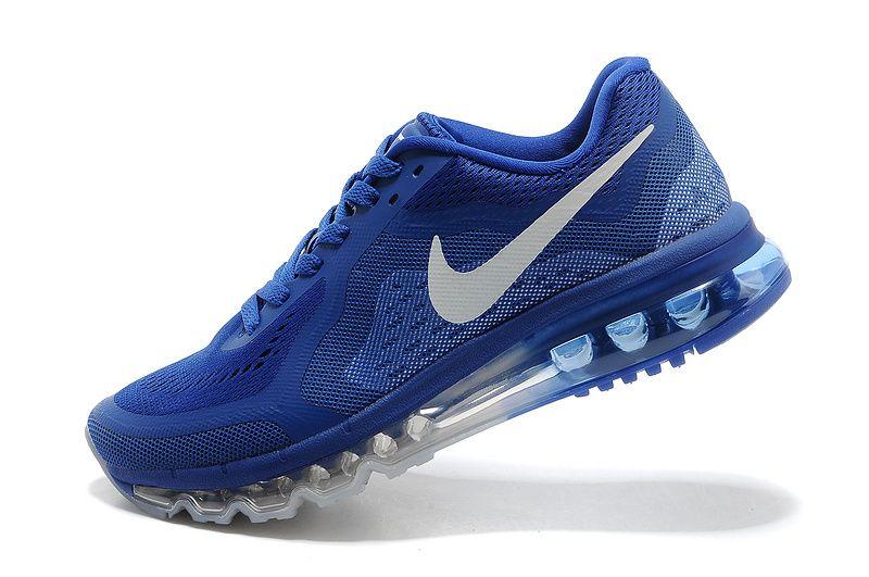 Cheap Mens Nike Air Max 2014 Royal Blue Sliver UK Sale