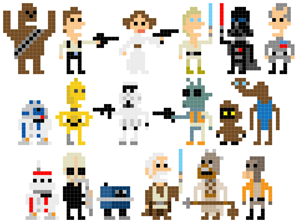 Pixel Star Wars Welcome Back To The 8 Bit Days Pixel Art