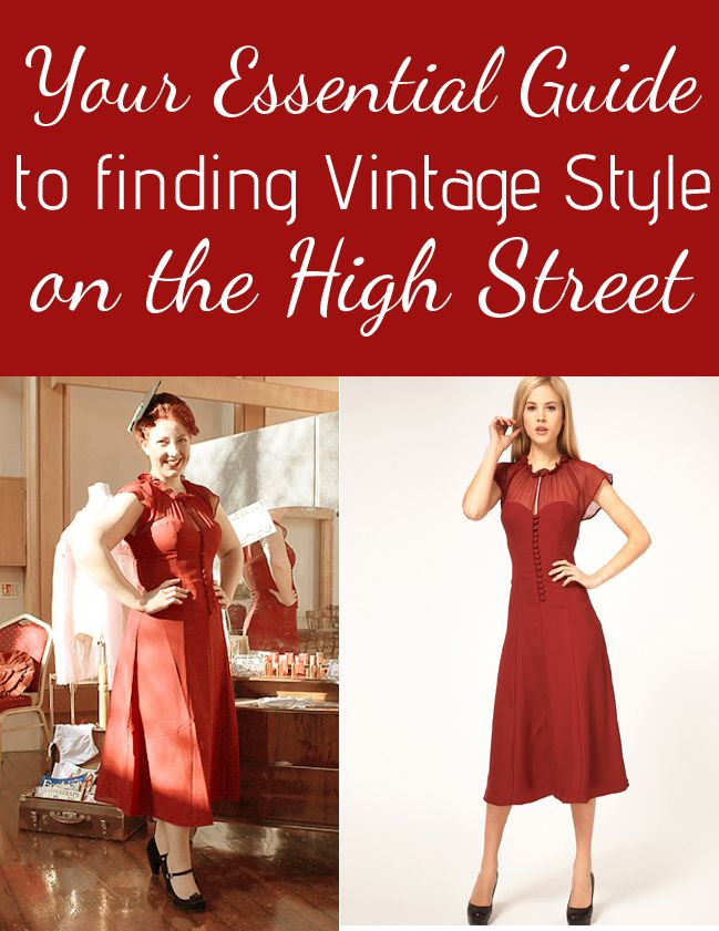 Top tips for shopping on the High Street for vintage inspired and vintage style clothes