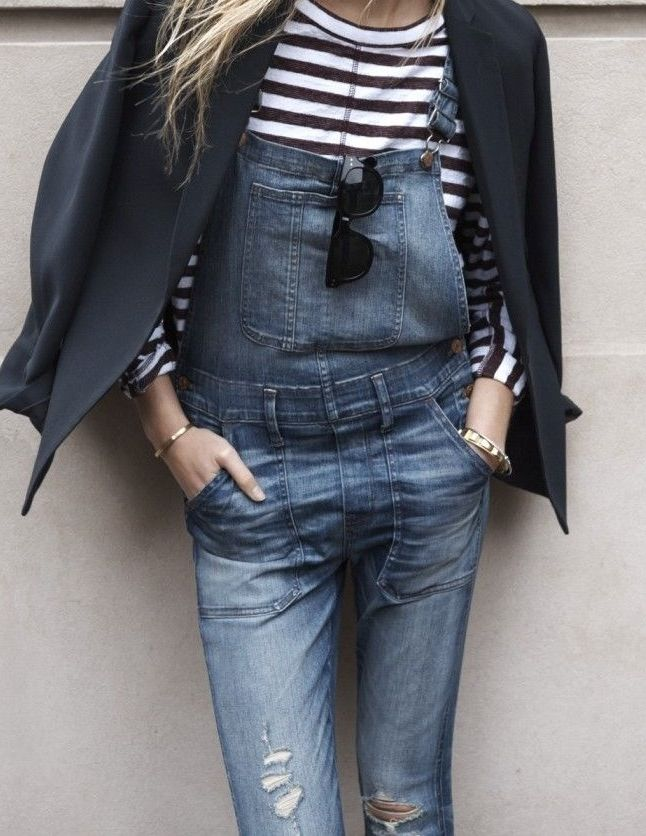 overalls + stripes. #denimmadewell