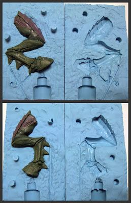 WarFrog's Hobby Blog: Two part mold making tutorial - Resin Casting
