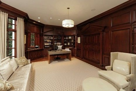 This would make a good, old-fashioned cigar room.