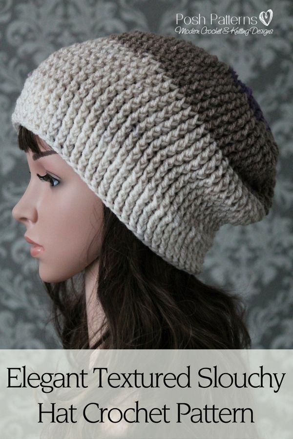 Elegant Ribbed Crochet Hat Pattern Slouchy Hat Crochet And Elegant