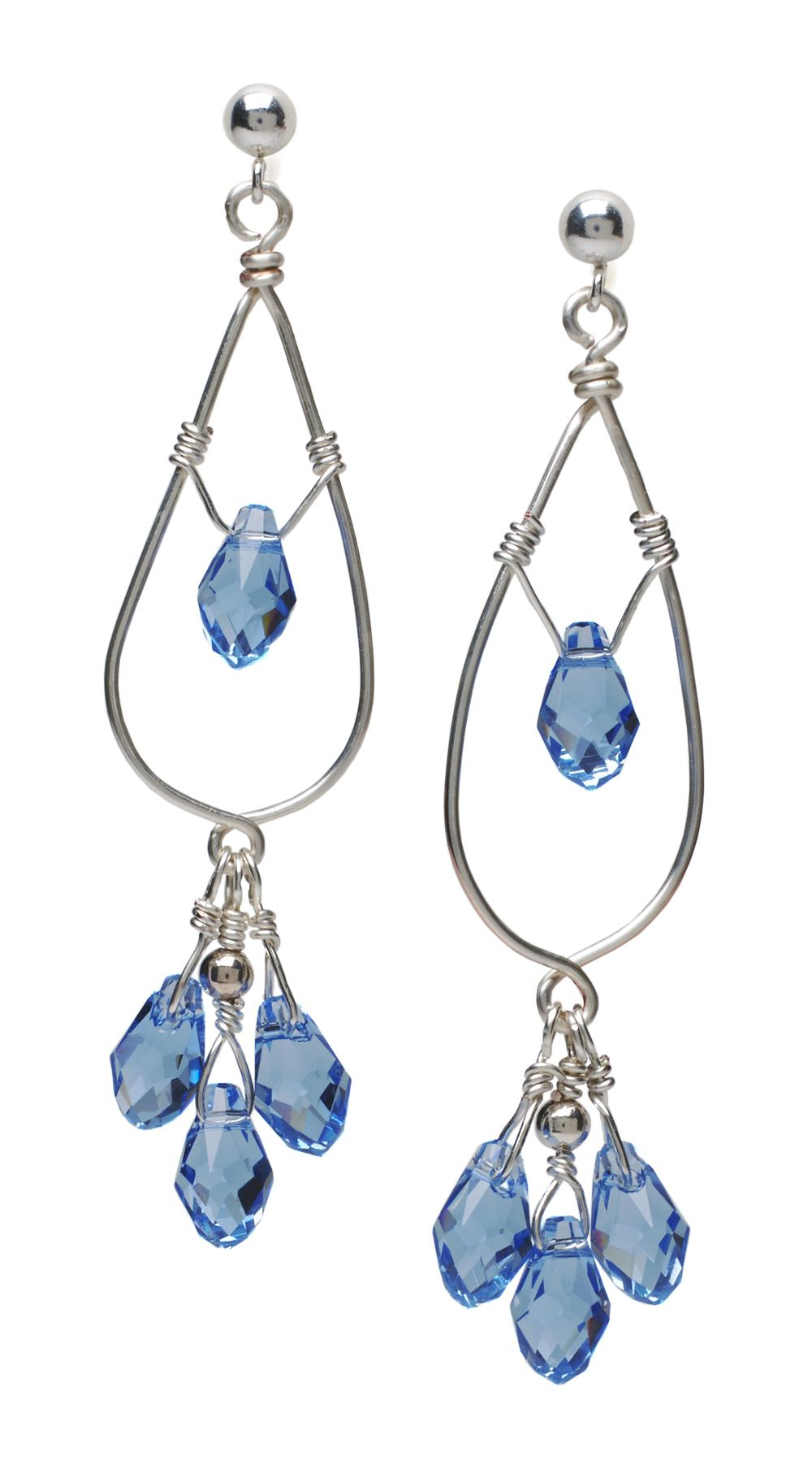 Crystal wire earrings these are cute