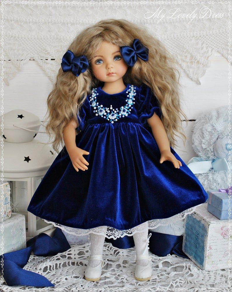 Little Darling Dianna Effner doll dress, Velvet dr