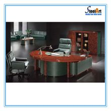Wooden Furniture Executive Curved Semi Circle Office Desk