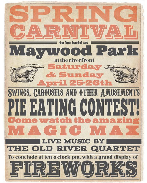 Victorian Typography Poster on Behance | wood type | Pinterest ...