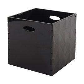 Boite De Rangement Noire Opaque 31 X 31 Cm Boite De Rangement Rangement Noir Boite Rangement Plastique