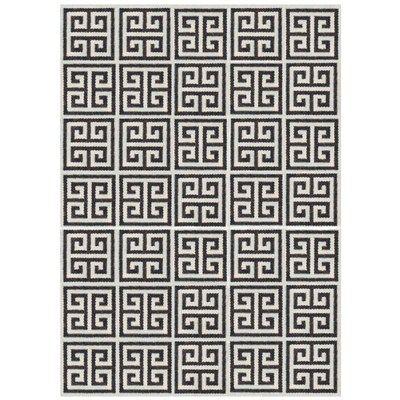 Rug Greek Key Black For Living Room