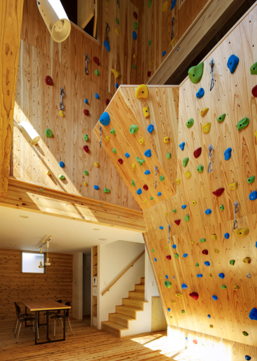 A Home Workout Room With A Rock Climbing Wall?!?! Now I'Ve Seen It