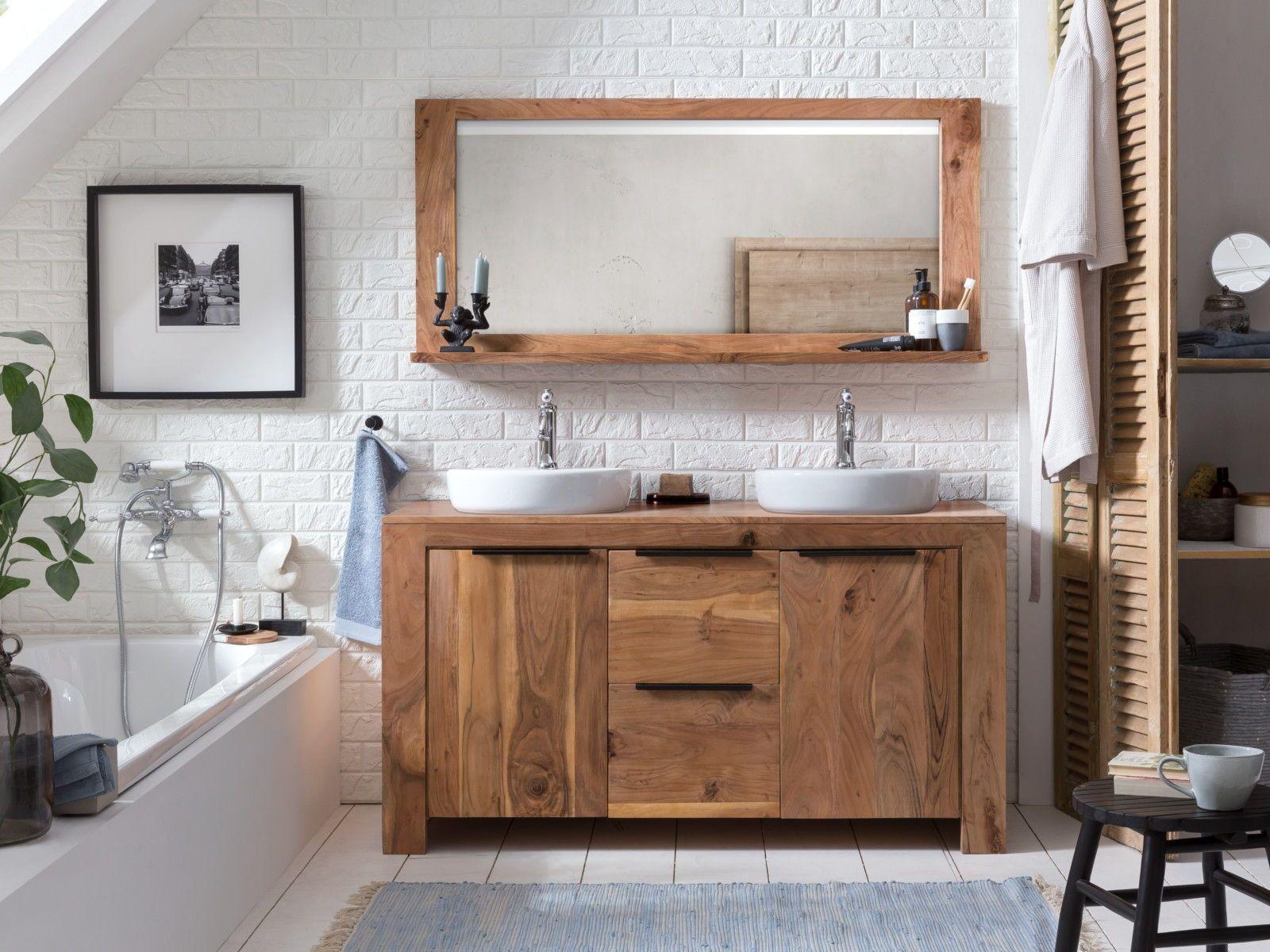 Woodkings Shop Waschtisch Massivholz Waschtisch Holz Rustikal