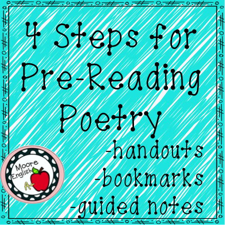 4 Steps for PreReading Poetry Annotations (Works with ANY