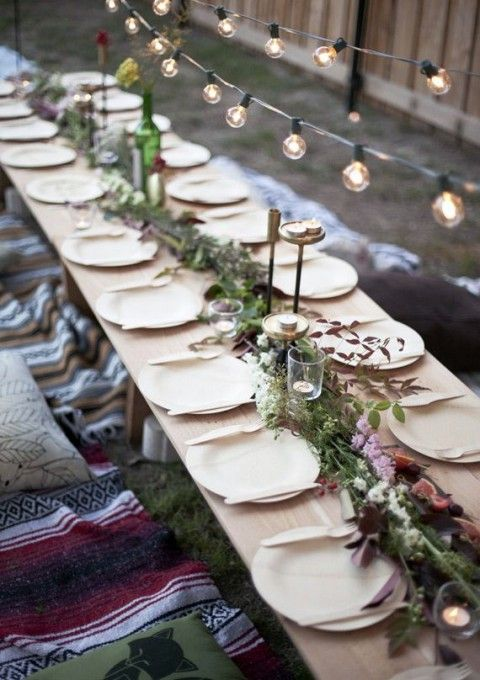 Country Wedding Table Settings