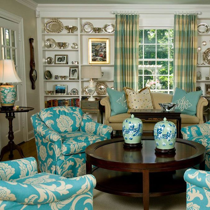 Awesome Blue and Silver Living Room Designs