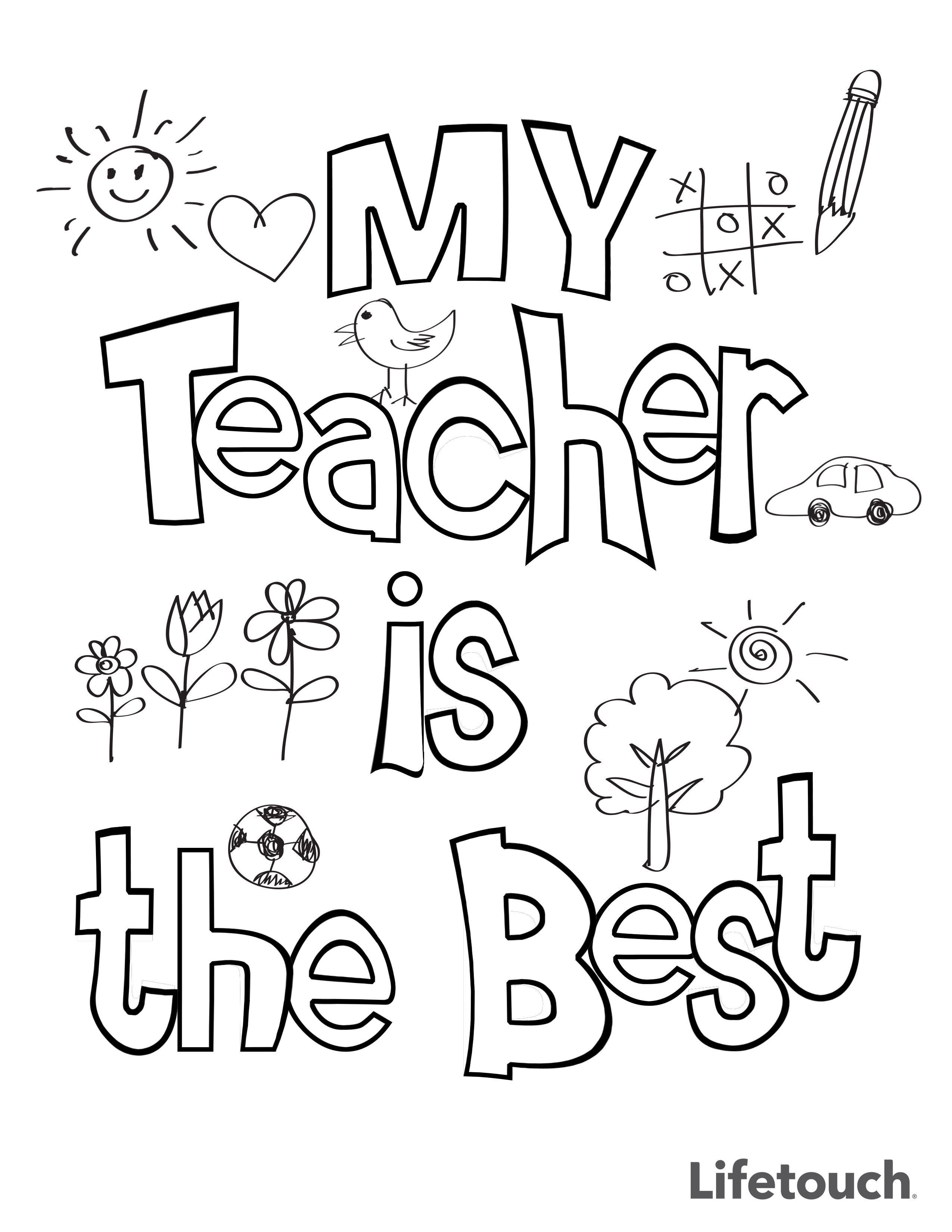 Teacher Appreciation Coloring Sheet