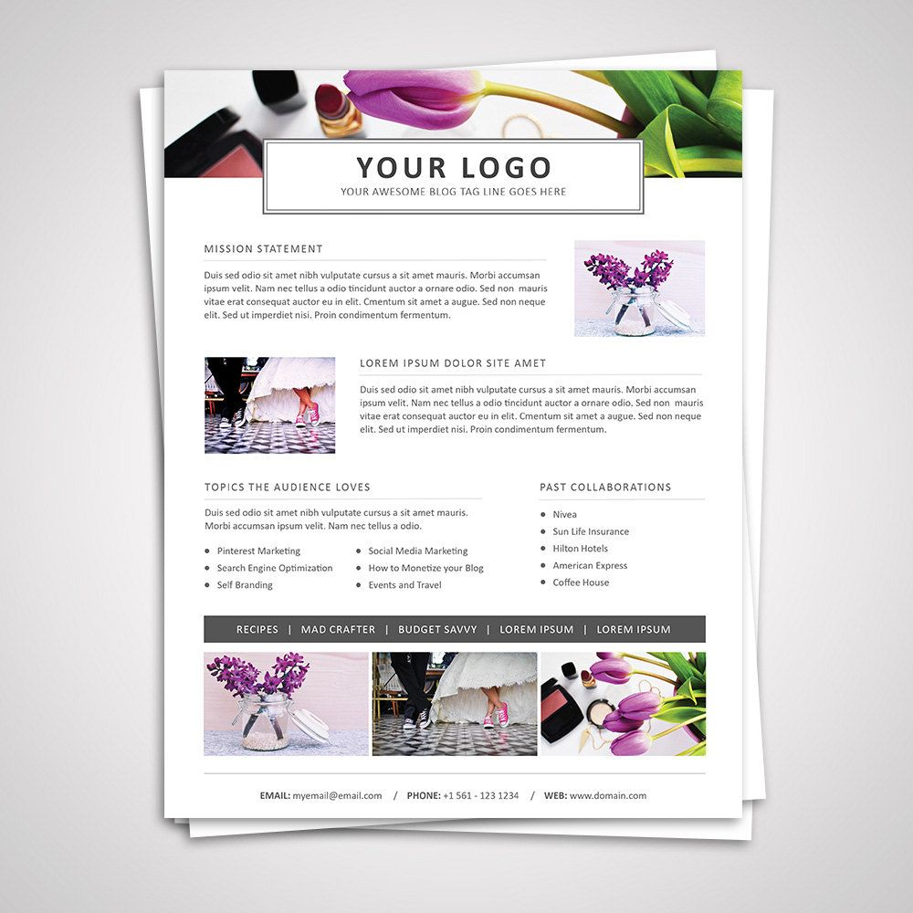 3 Page Media Kit Template 05 Ad Rate Sheet Template Press Etsy Media Kit Template Blog Media Kit Media Kit
