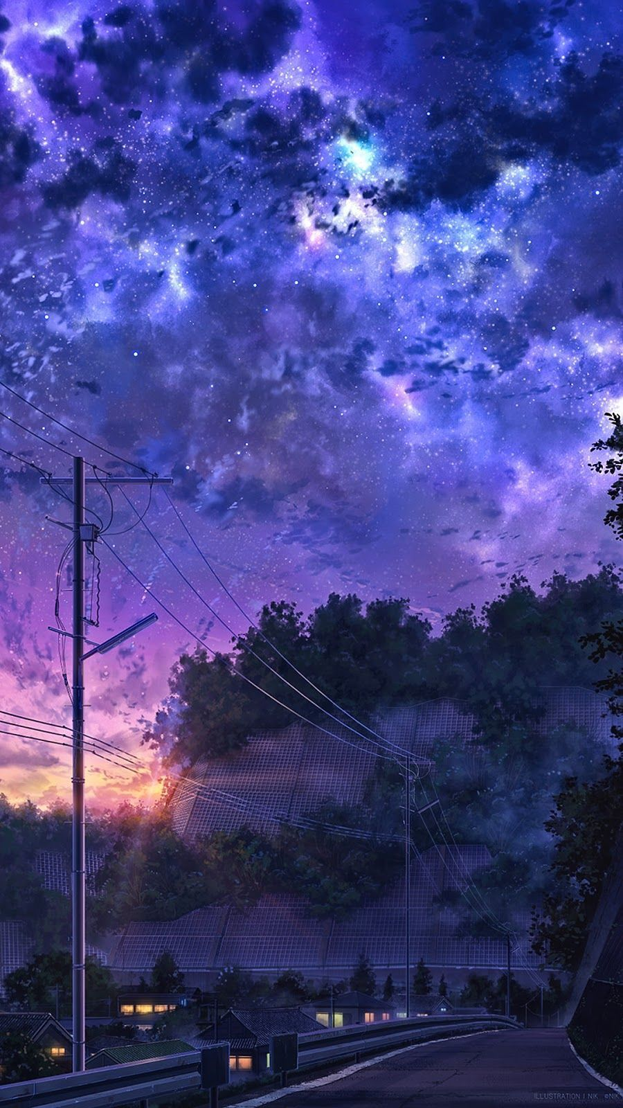 Silent Night Laineys Pins Scenery Wallpaper Sky Anime Anime Backgrounds Wallpapers