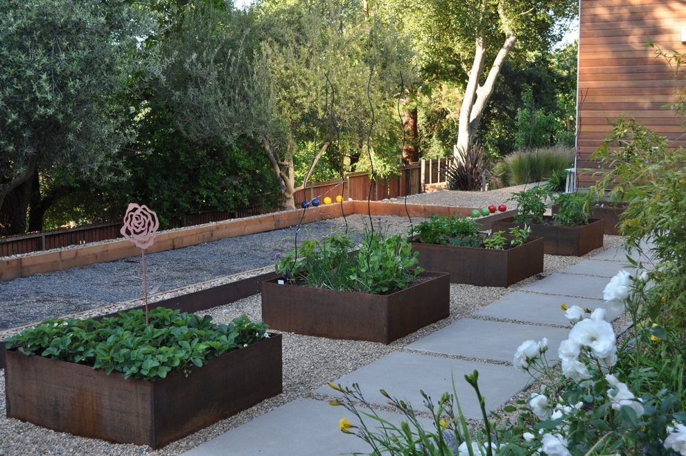 San Francisco Planter Boxes Mode With Contemporary Outdoor Dining Sets Landscape And Step Gr Modern Landscaping Contemporary Garden Design Backyard Landscaping