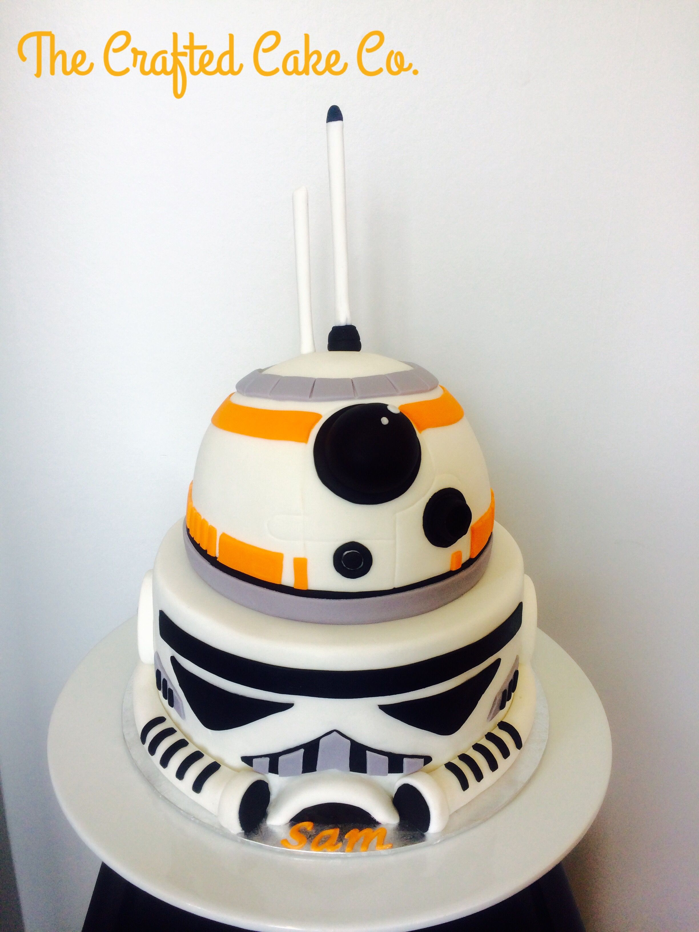 Star Wars cake BB8 and Stormtrooper storm trooper