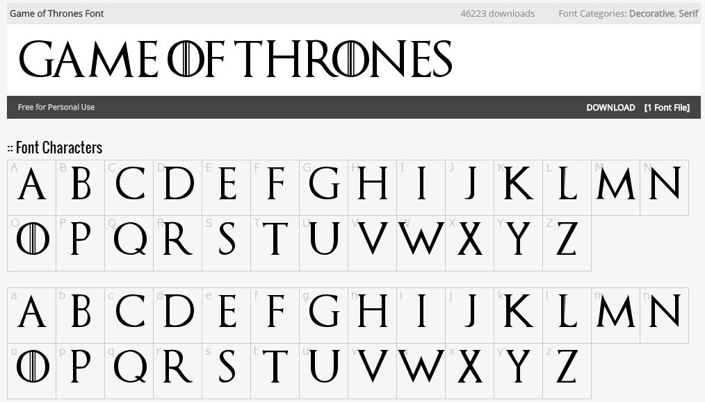 This Font Looks Like The Game Of Thrones Show Font Game Of Thrones Game Of Thrones Show Font