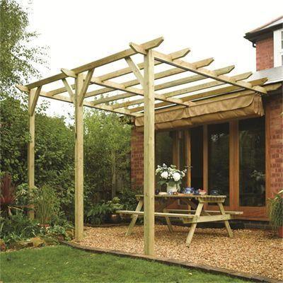 Sienna Wooden Patio Pergola | Garden Sun Canopy | Wooden Patios, Pergolas  And Canopy