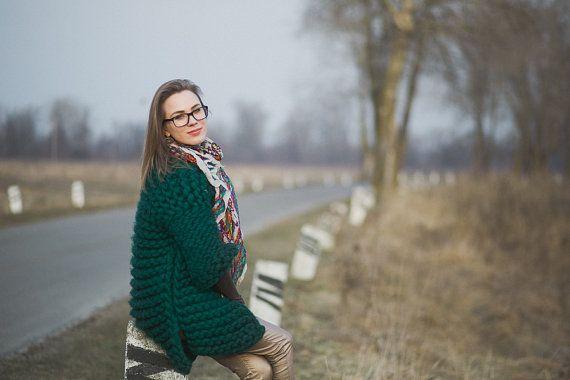 Vrouw Super omvangrijk voorjaar jas jas / Hand van MrPomPon op Etsy
