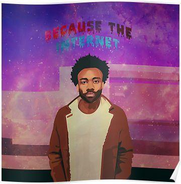 E-102 Childish Gambino Rap Album Star Because the Internet Fabric Poster Print