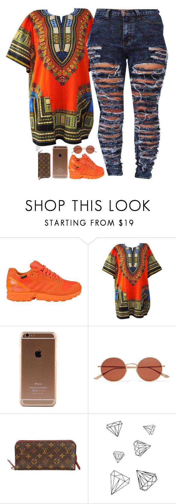 """""""- Bïtch I'm big and bold """" by beautiful-sinnerr ❤ liked on Polyvore featuring adidas Originals, Oliver Peoples, Louis Vuitton, DOPE and trill"""