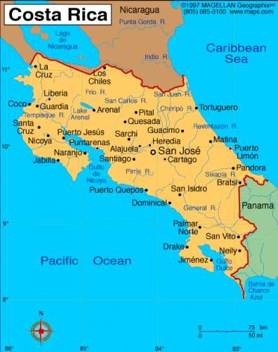 nice Map of costa rica Costa Rica Pinterest
