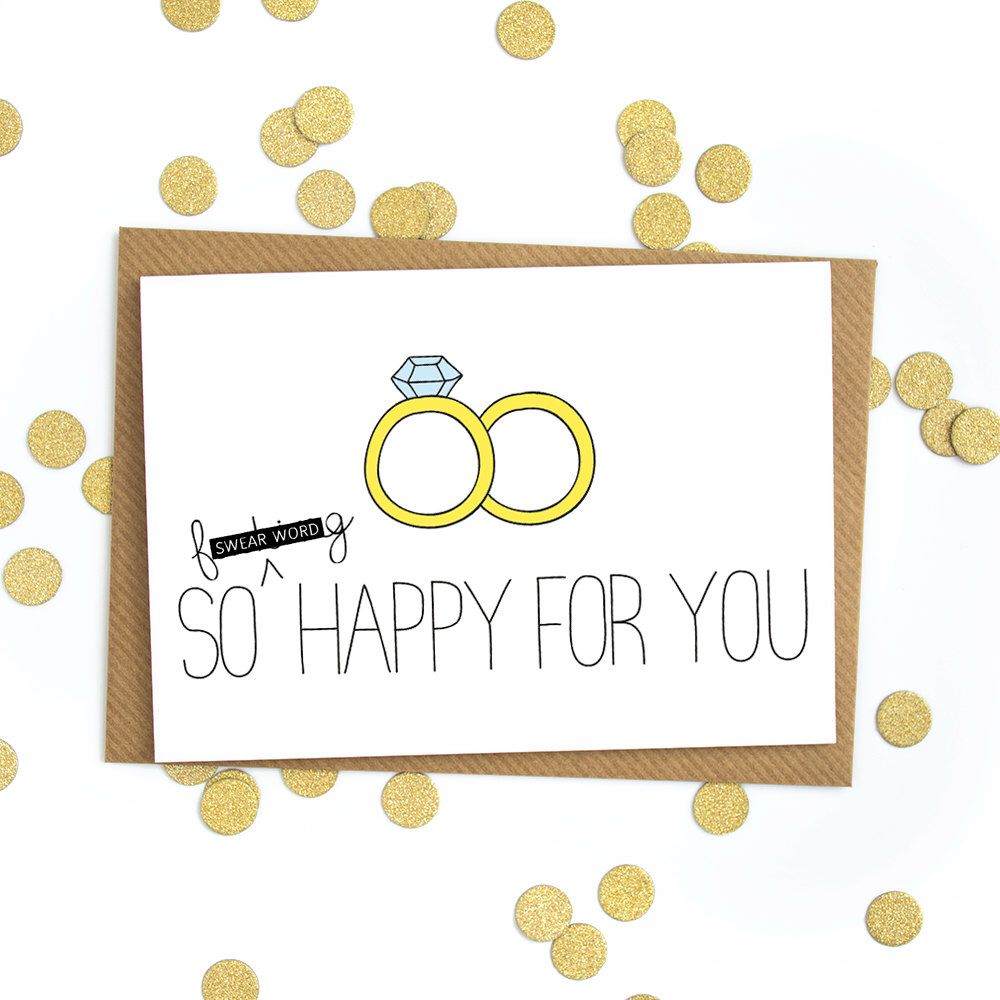 Funny Wedding Card Congratulations Love Gift Engagement Marriage Greetings Best Friend