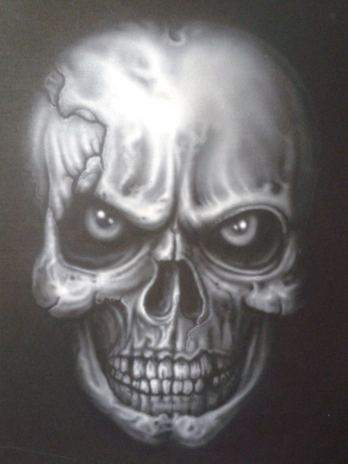 Air Brushed Skull Skull Painted By Me Artist Fred Vandyk